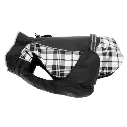 Alpine All Weather Coat Black and White Plaid