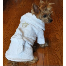 White Gold Crown Bathrobe
