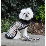 Brown Classic Camel Plaid Coat & Leash