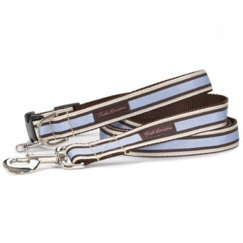 Chocolate and Periwinkle Stripe Collar Collection
