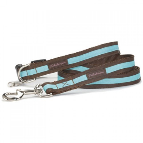 Chocolate and Turquoise Stripe Collar Collection