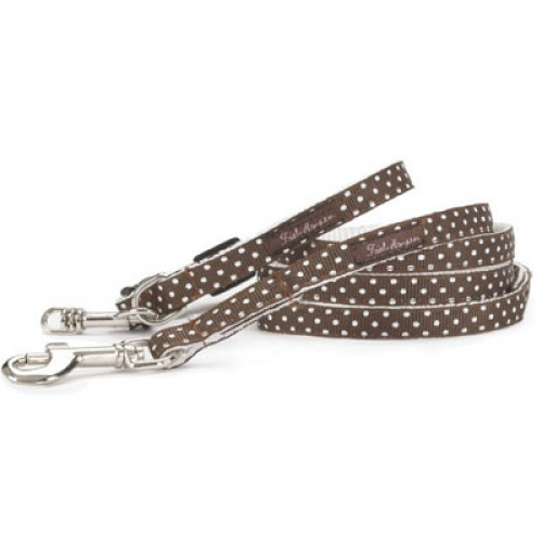 Adorable Chocolate and White Mini Dots Collar Collection
