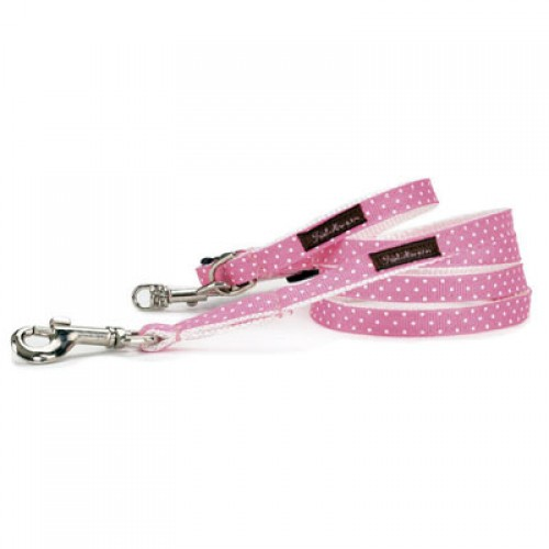 Adorable Hot Pink and White Mini Dots Collar Collection