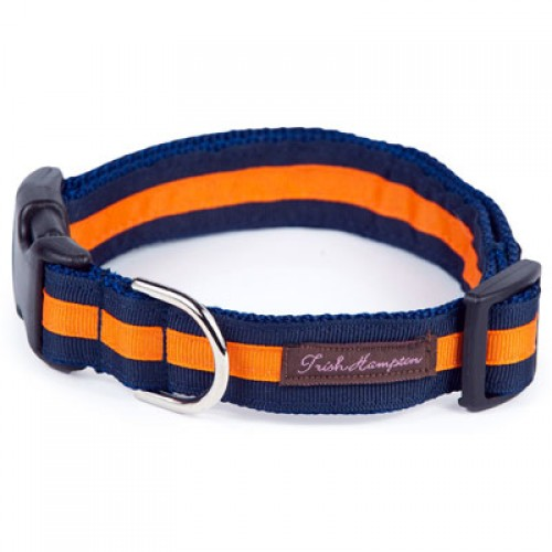 Navy and Bright Orange Stripe Collar Collection