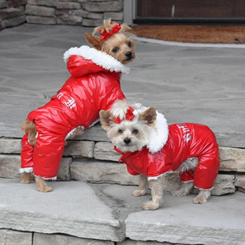 """""""Ruffin It"""" Red SnowSuit"""