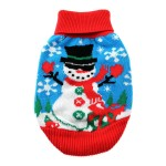 Snowman Holiday Ugly Dog Sweater 100% Pure Combed Cotton