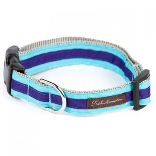 Turquoise and Deep Purple Stripe Collar Collection