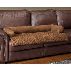Solvit Sta-Put™ Bolstered Couch Pet Cover - Cocoa