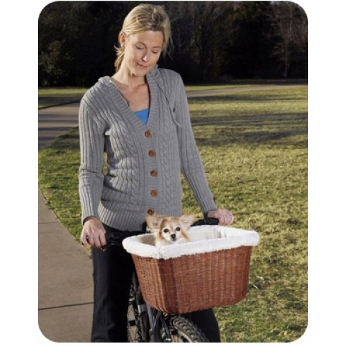 Tagalong™ Wicker Bicycle Pet Basket