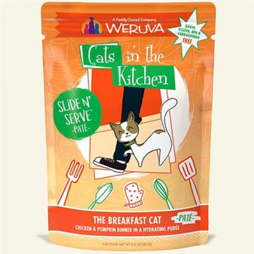 Cats In The Kitchen Cat Slide Berry Breakfast 3 Oz. Pouch Case Of 24 (Case Of 24)