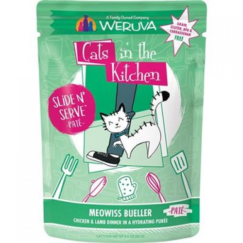 Cats In The Kitchen Cat Slide Bueller 3 Oz. Pouch