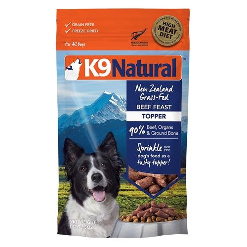 K9 Natural Dog Freeze Dried Topper Beef 5 Oz