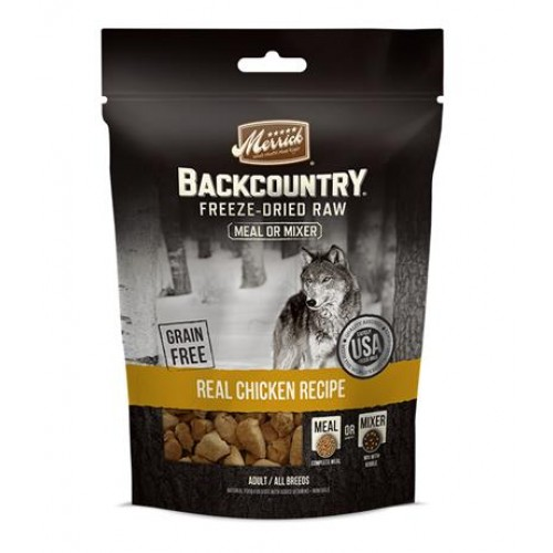 Merrick Backcountry Freeze Dried Raw Meal Mixer Real Chicken Recipe 4 OZ