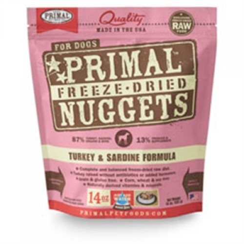 Primal Pet Foods Freeze Dried Food For Dogs Turkey Sardine 5.5 oz