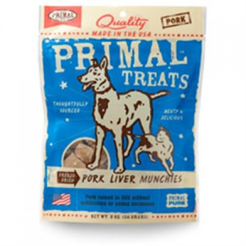 Primal Pork Liver Munchies Freeze-Dried Dog & Cat Treats 2 oz