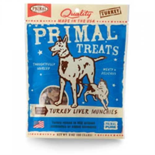 Primal Turkey Liver Munchies Freeze-Dried Dog & Cat Treats 2 oz
