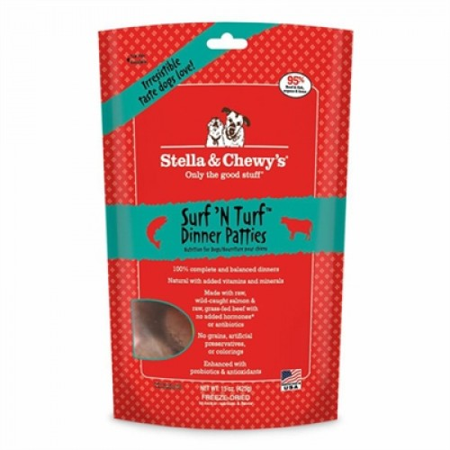 Stella & Chewys-Freeze-Dried Surf 'N Turf Dinners For Dogs - 25oz