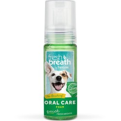 Tropiclean Fresh Breath Dog Foam Fresh Mint 4.5oz.