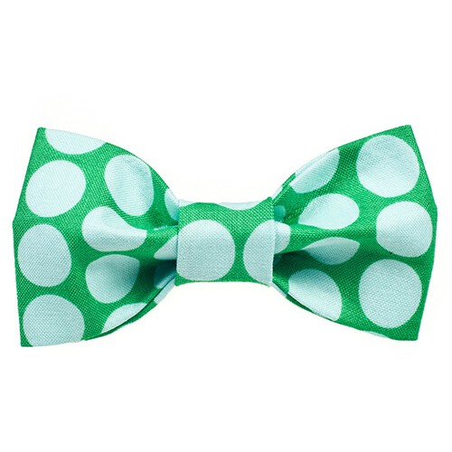 Big Green Dots Bow Tie