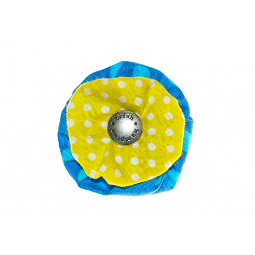 Blue and Citrus Dots Flower Blossom