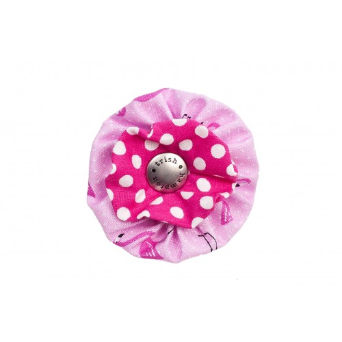 Flamingo and Hot Pink Dots Flower Blossom