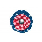 Navy Stars and Red Dots Flower Blossom