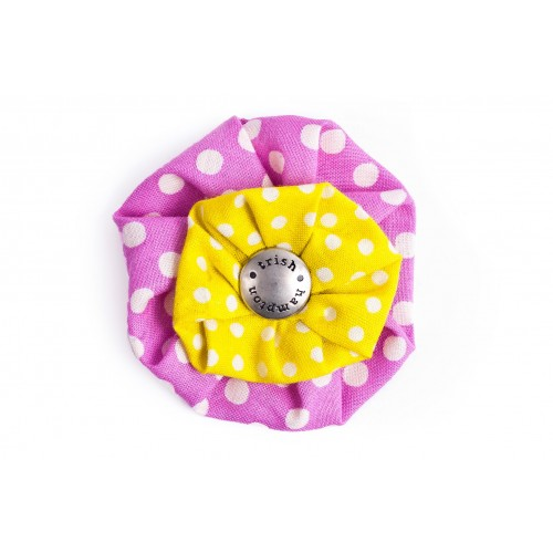 Pink and Citrus Dots Flower Blossom