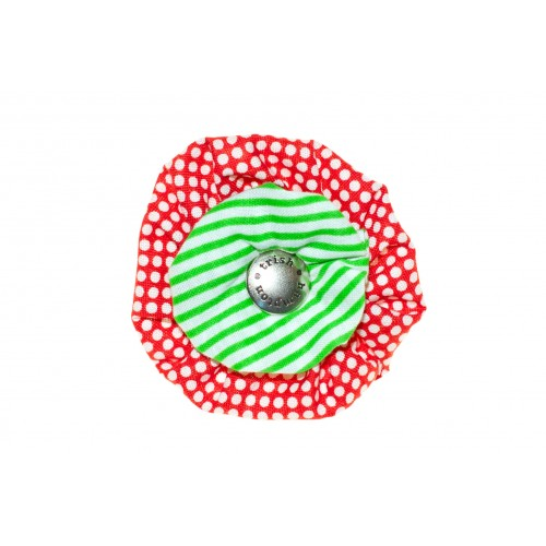 Red and Green Stripe Flower Blossom
