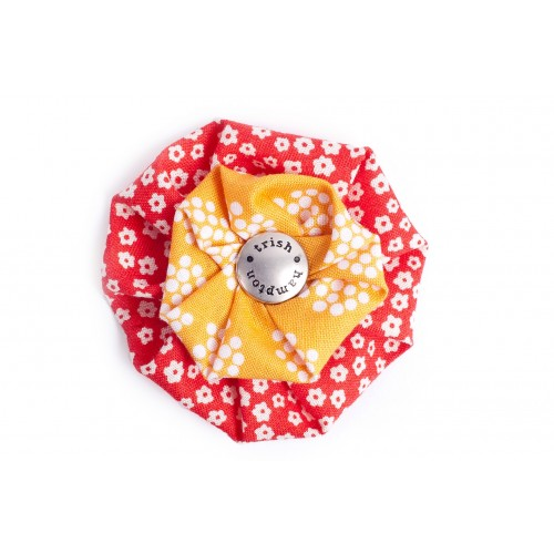 Red and Orange Dots Flower Blossom