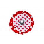 Red and White Red Dots Flower Blossom